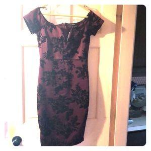 Sexy burgundy black off the shoulder dress NWT